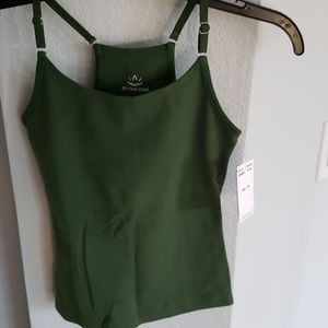 Rare NWT Olive Gn Beyond Yoga Cami Top XS